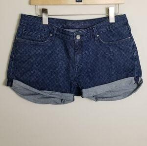 Mavi Jeans Emily Denim Printed Shorts Dark Wash 30